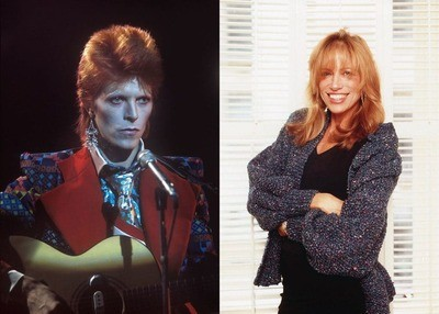 David Bowie and Carly Simon side by side